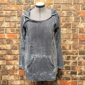 Marc New York gray Tunic hoodie, Medium